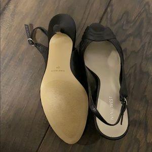 Nine West black sling back heel. Brand new.